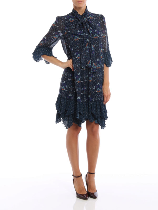 Knielanges Kleid - Blau shop online: See by Chloé