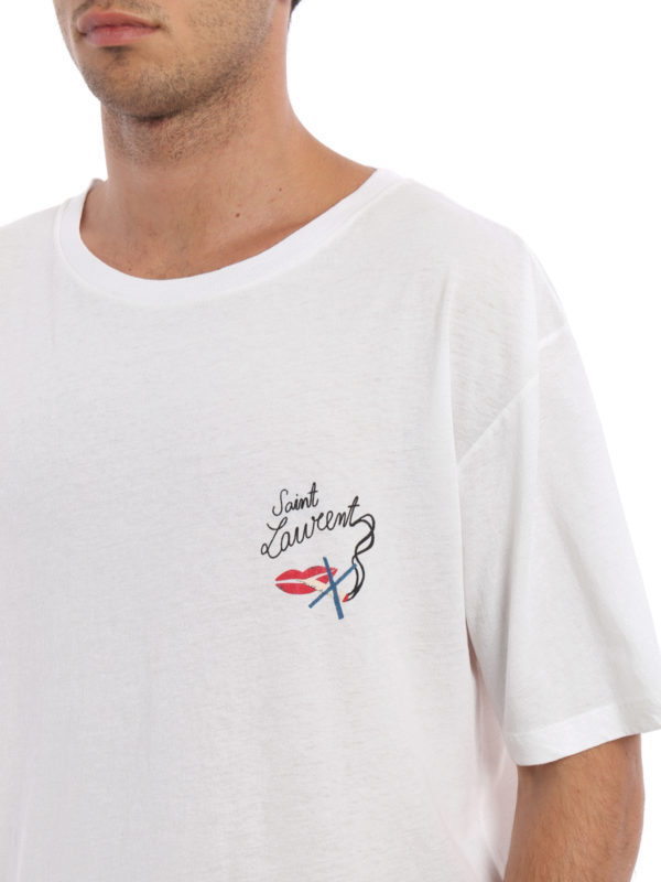 Saint Laurent buy online T-Shirt - Gemustert