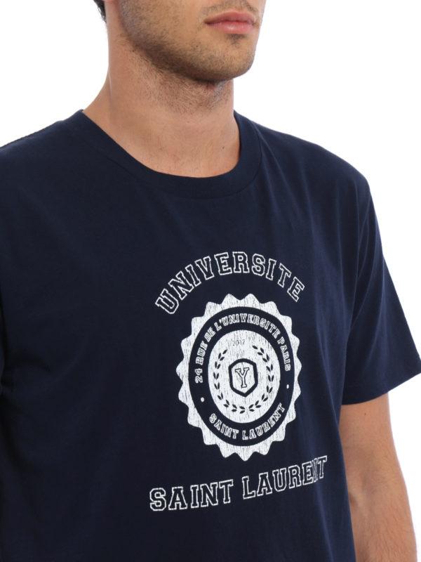 Saint Laurent buy online T-Shirt - Dunkelblau