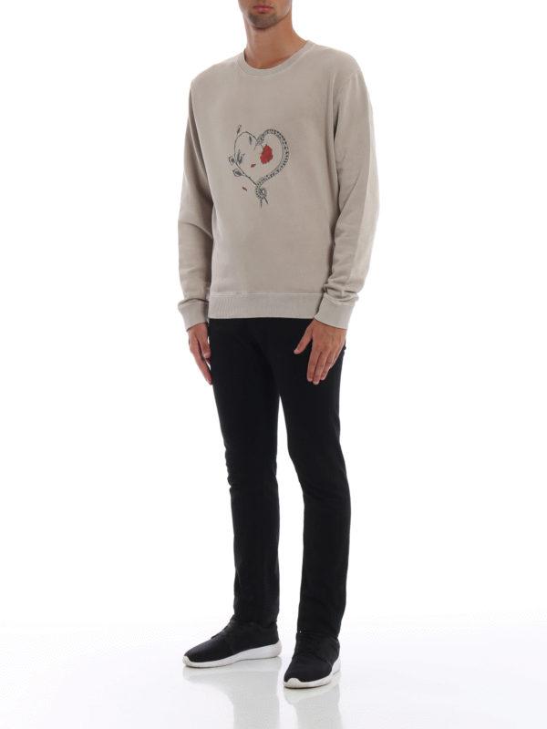 SAINT LAURENT: Sweatshirts und Pullover online - Sweatshirt - Beige
