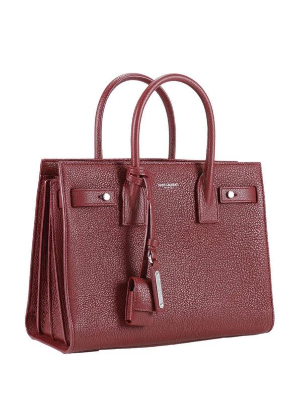 Saint Laurent: Handtaschen online - Shopper - Dunkelrot