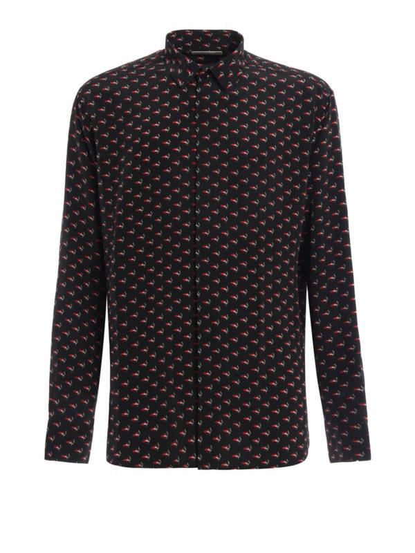 Saint Laurent: Hemden - Hemd - Gemustert