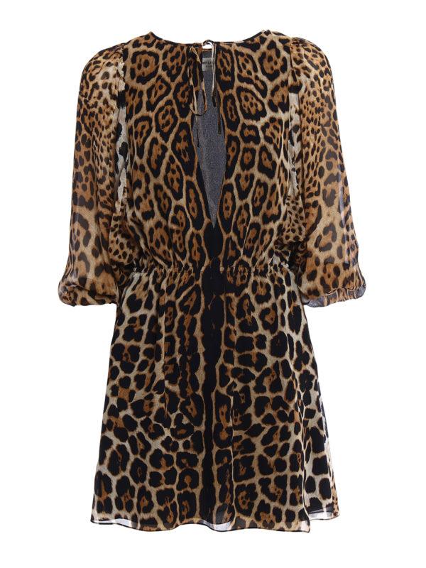 Saint Laurent: Kurze Kleider - Kurzes Kleid - Gemustert