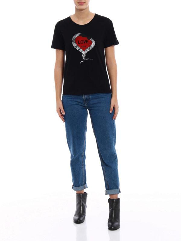 Saint Laurent: T-shirts online - T-Shirt - Schwarz