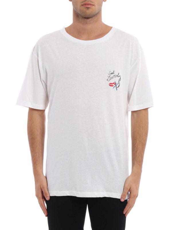 Saint Laurent: T-shirts online - T-Shirt - Gemustert