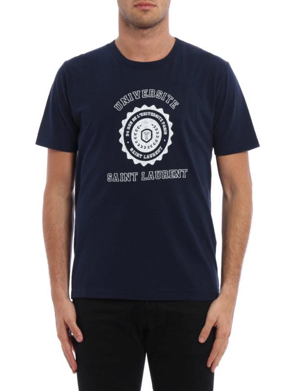 Saint Laurent: T-shirts online - T-Shirt - Dunkelblau