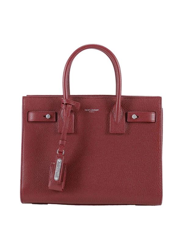 Saint Laurent: Handtaschen - Shopper - Dunkelrot