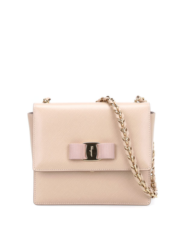 Salvatore Ferragamo: Clutches - Clutch - Hellbeige