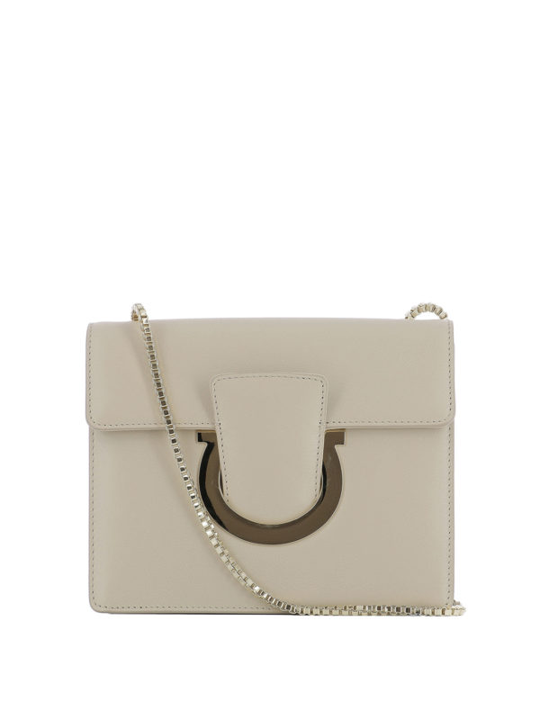 SALVATORE FERRAGAMO: Clutches - Clutch - Beige