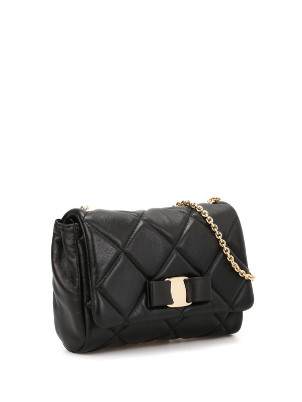 Salvatore Ferragamo: cross body bags online - Quilted Vara leather bag