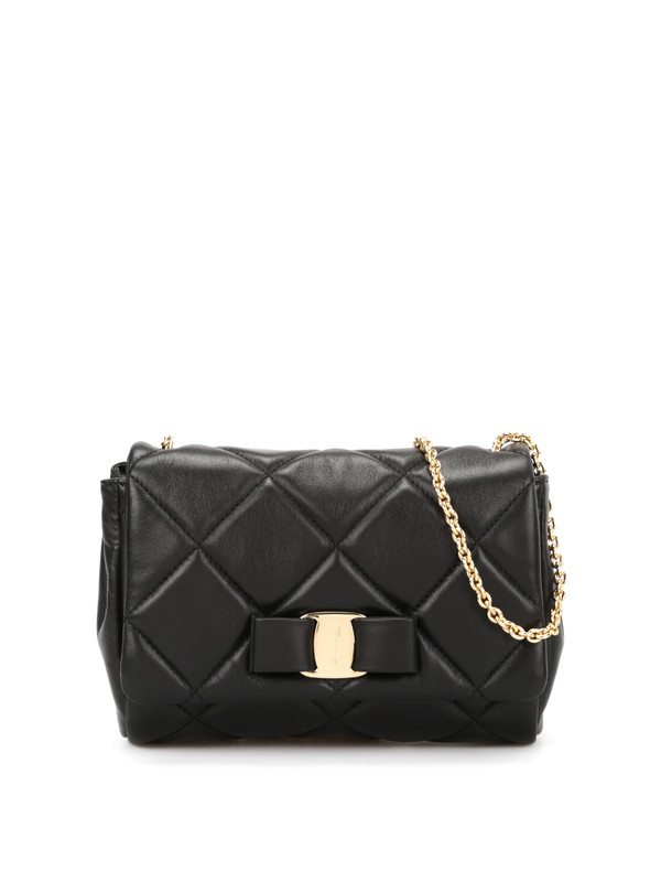 Salvatore Ferragamo: cross body bags - Quilted Vara leather bag