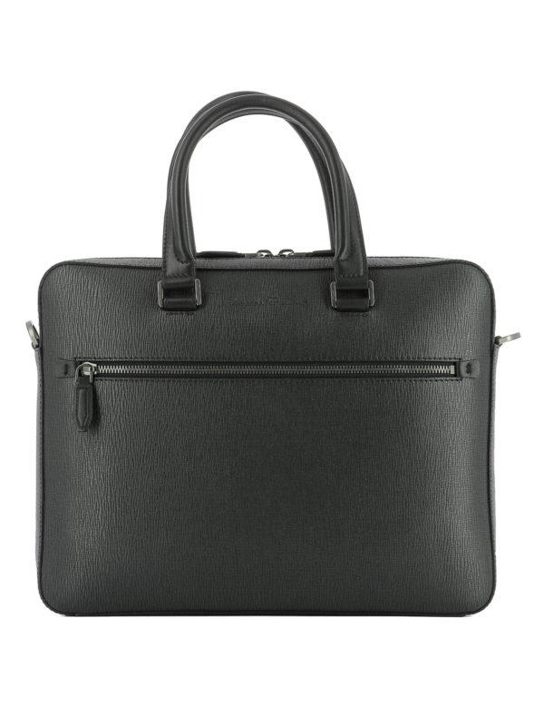 Salvatore Ferragamo: Laptoptaschen und Aktentaschen - Aktentasche - Schwarz