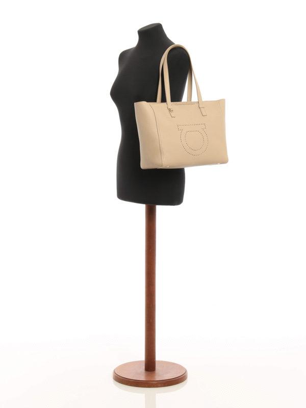 iKRIX Salvatore Ferragamo: Shopper - Beige