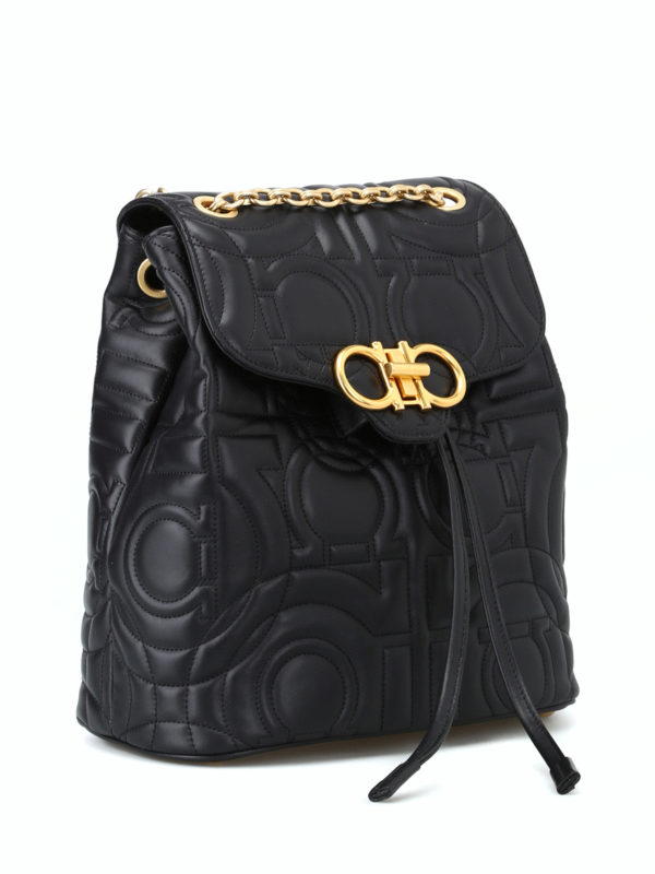 SALVATORE FERRAGAMO: backpacks online - Gancini quilted small backpack