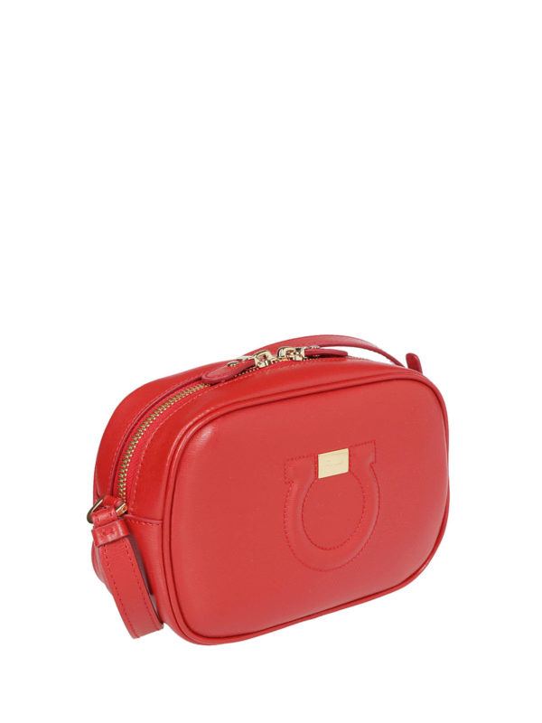 8fa8de1c65 SALVATORE FERRAGAMO  cross body bags online - Gancini lipstick calfskin  small camera bag