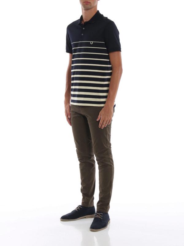 SALVATORE FERRAGAMO: Poloshirts online - Poloshirt - Gemustert