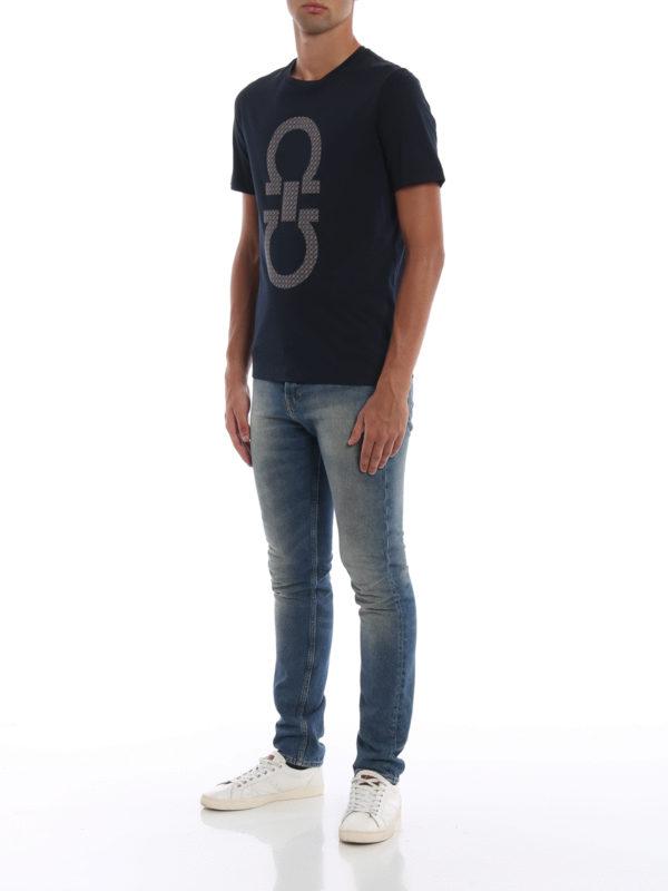 SALVATORE FERRAGAMO: T-shirts online - T-Shirt - Dunkelblau