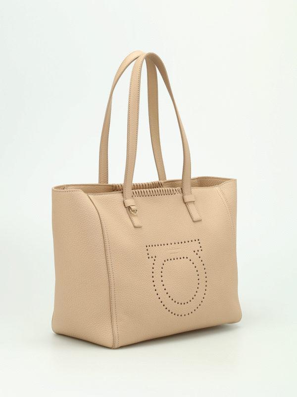 Salvatore Ferragamo: Handtaschen online - Shopper - Beige