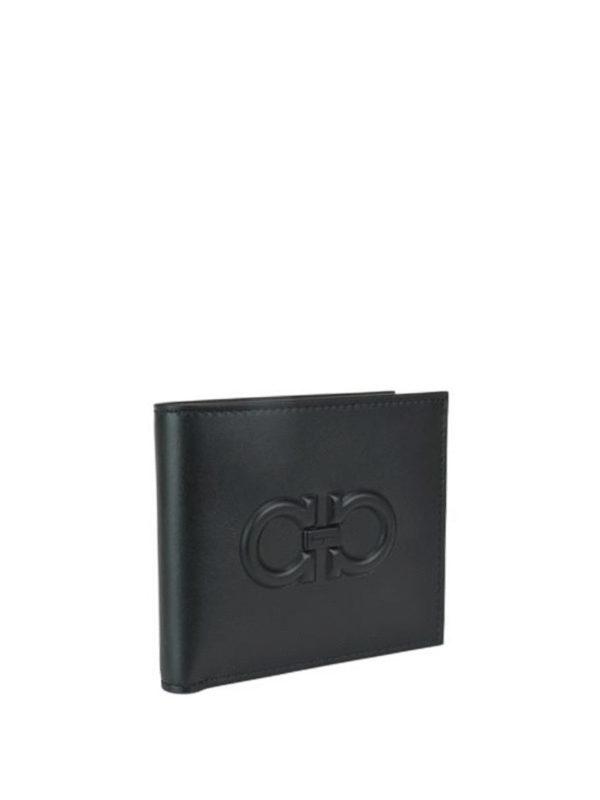 SALVATORE FERRAGAMO: wallets & purses online - Gancini embossed leather wallet