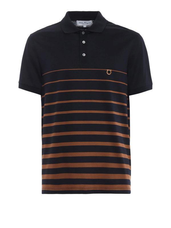 SALVATORE FERRAGAMO: Poloshirts - Poloshirt - Gemustert