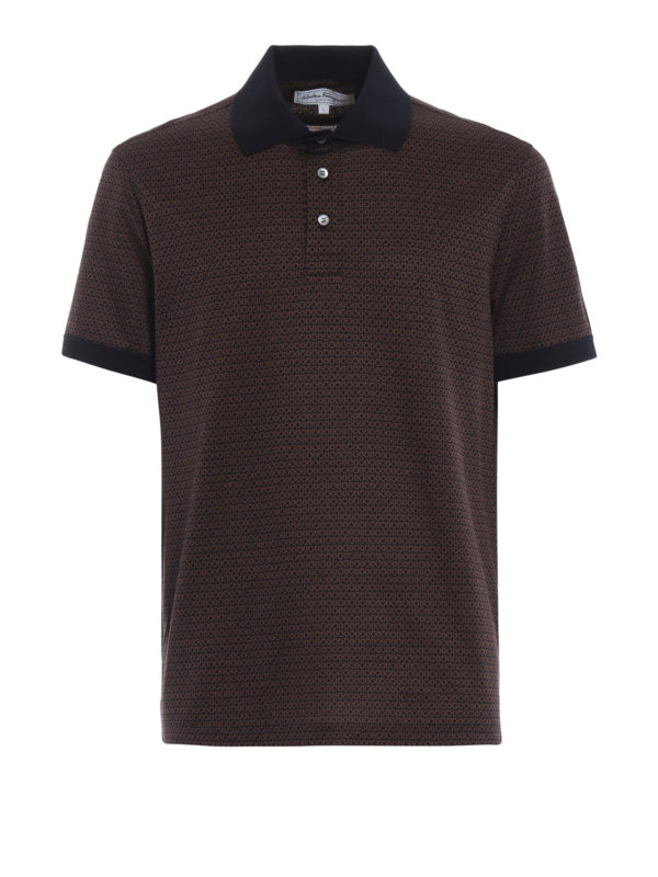 SALVATORE FERRAGAMO: Poloshirts - Poloshirt - Braun