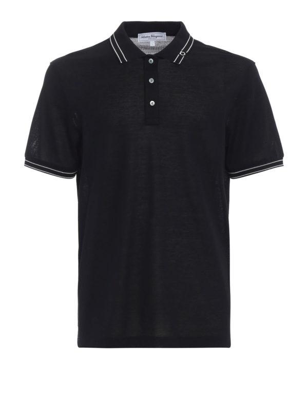SALVATORE FERRAGAMO: Poloshirts - Poloshirt - Blau