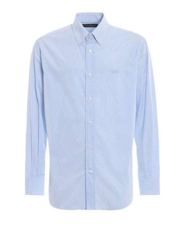 SALVATORE FERRAGAMO: Hemden - Hemd - Gemustert