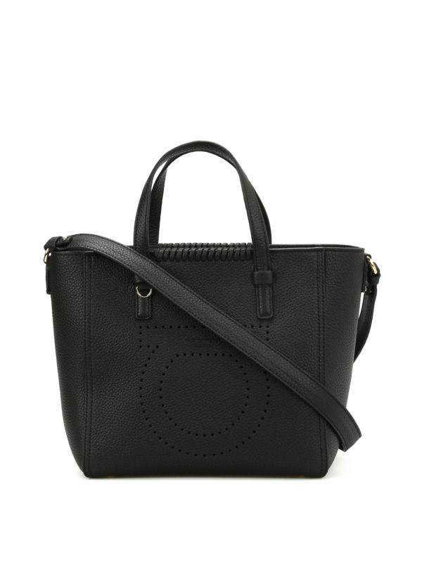SALVATORE FERRAGAMO: Handtaschen - Shopper - Schwarz