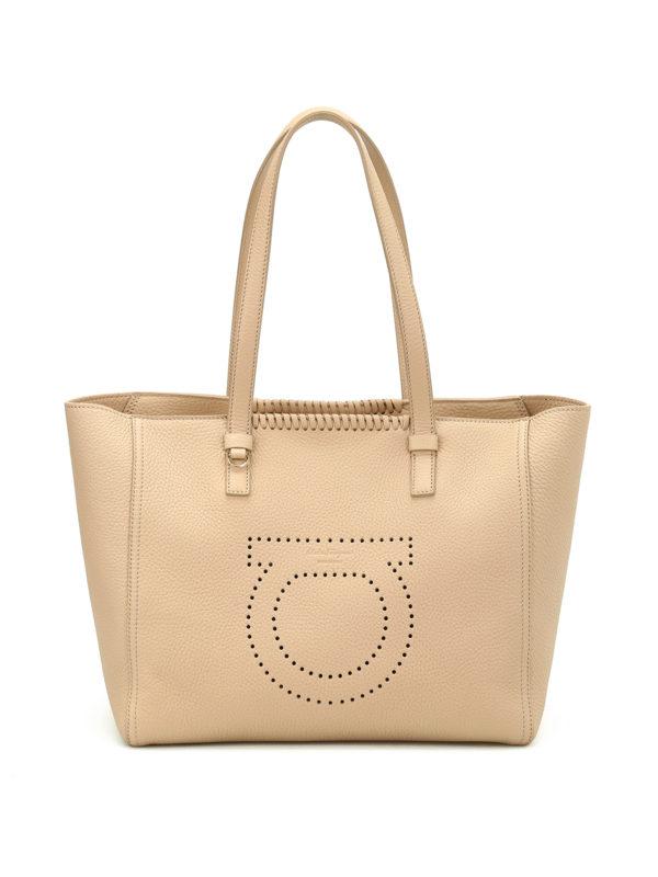 Salvatore Ferragamo: Handtaschen - Shopper - Beige
