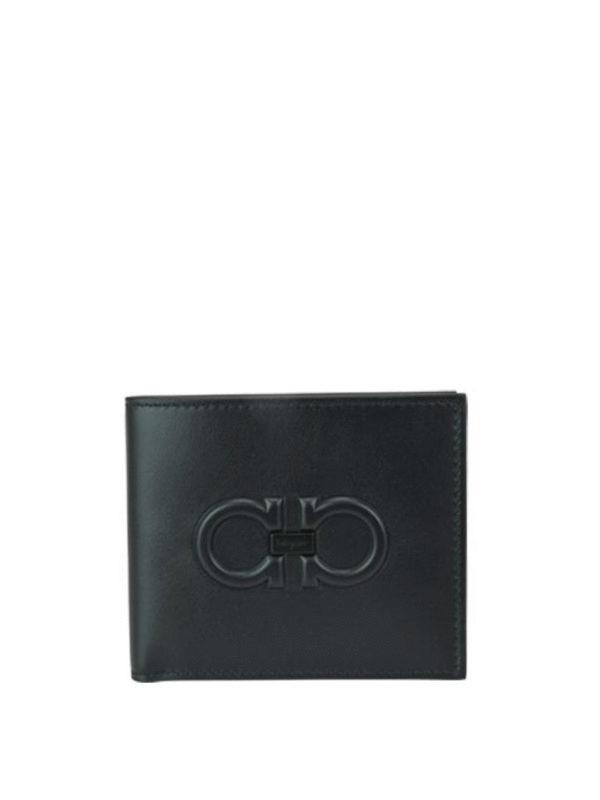 SALVATORE FERRAGAMO: wallets & purses - Gancini embossed leather wallet