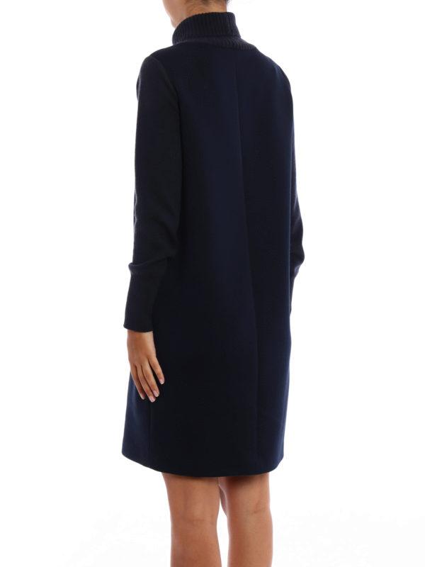 Scuba dress with knitted details shop online: FABIANA FILIPPI