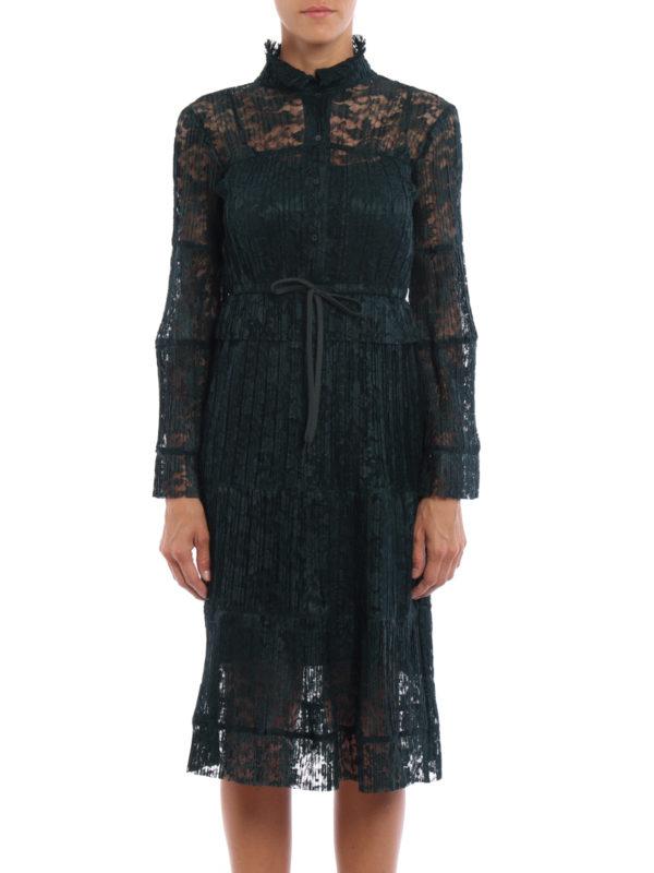 See by Chloé: Knielange Kleider online - Knielanges Kleid - Einfarbig