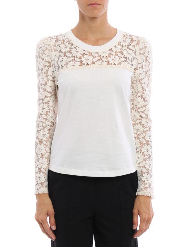 See by Chloé: T-shirts online - T-Shirt - Weiß