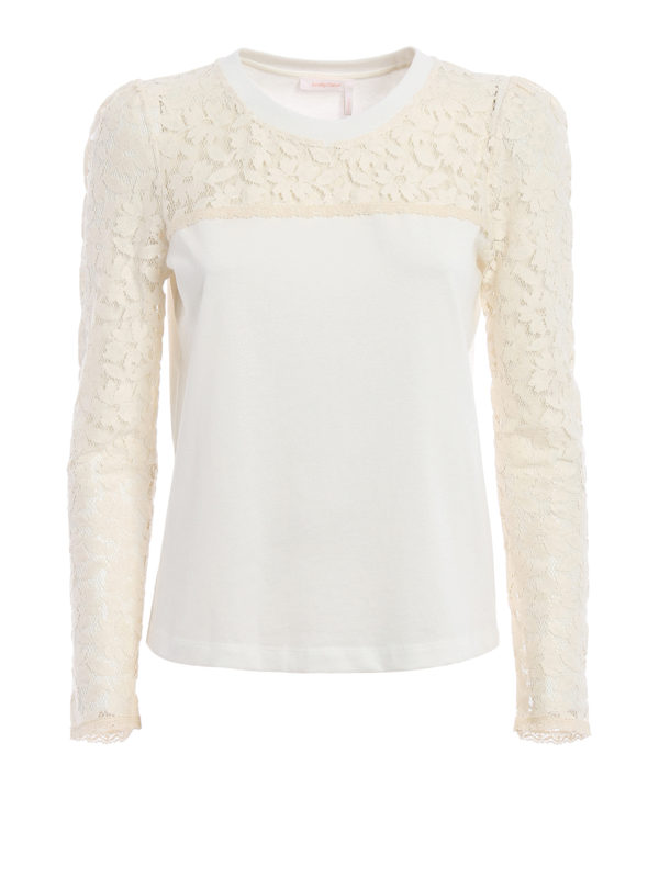 See by Chloé: T-shirts - T-Shirt - Weiß