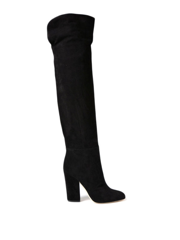 Sergio Rossi: boots - Virginia over-the-knee suede boots