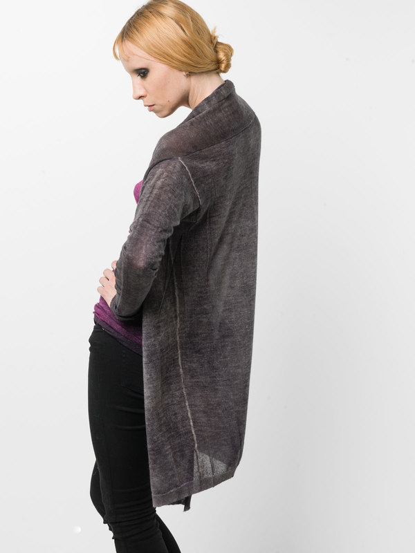 Shawl neck cardigan shop online: AVANT-TOI