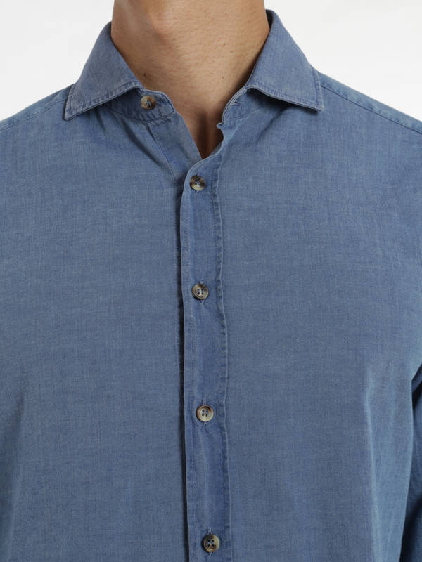 shirts shop online. Denim cotton shirt