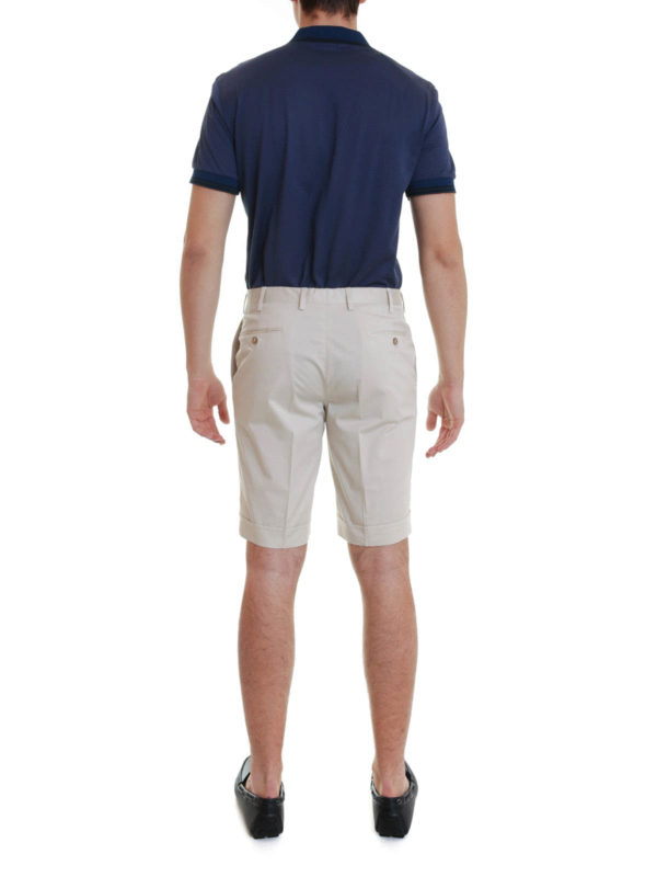 Shorts with turn-ups shop online: Brioni