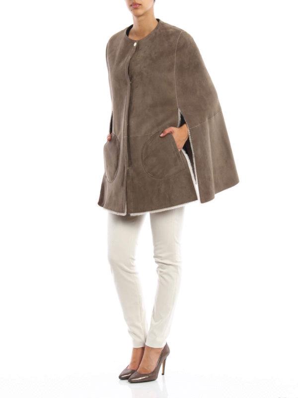 Shorty reversible shearling cape by Loro Piana - Fur & Shearling ...