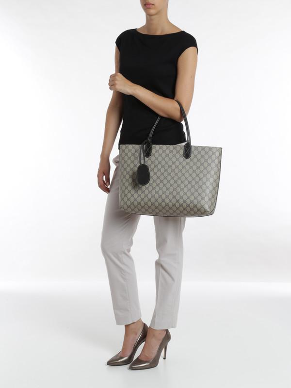 shoulder bags shop online. Reversible GG leather tote