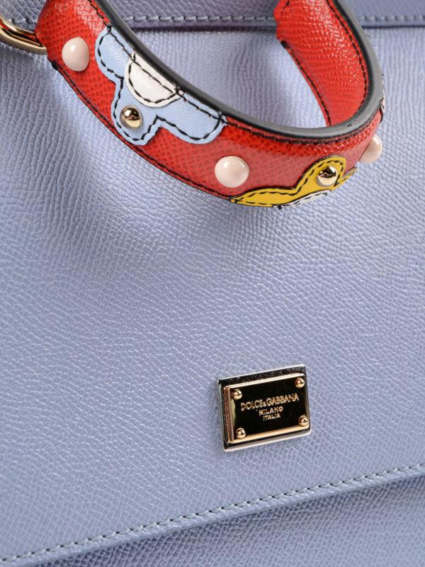 Bowling Tasche - Hellblau shop online: Dolce & Gabbana