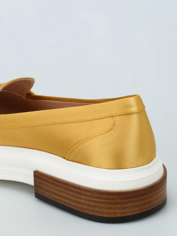 Silk satin loafers shop online: Tod