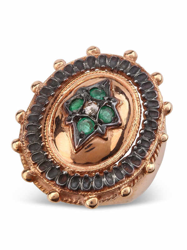 Silber Ring Mit Smaragd Und Diamanten shop online: De Maria