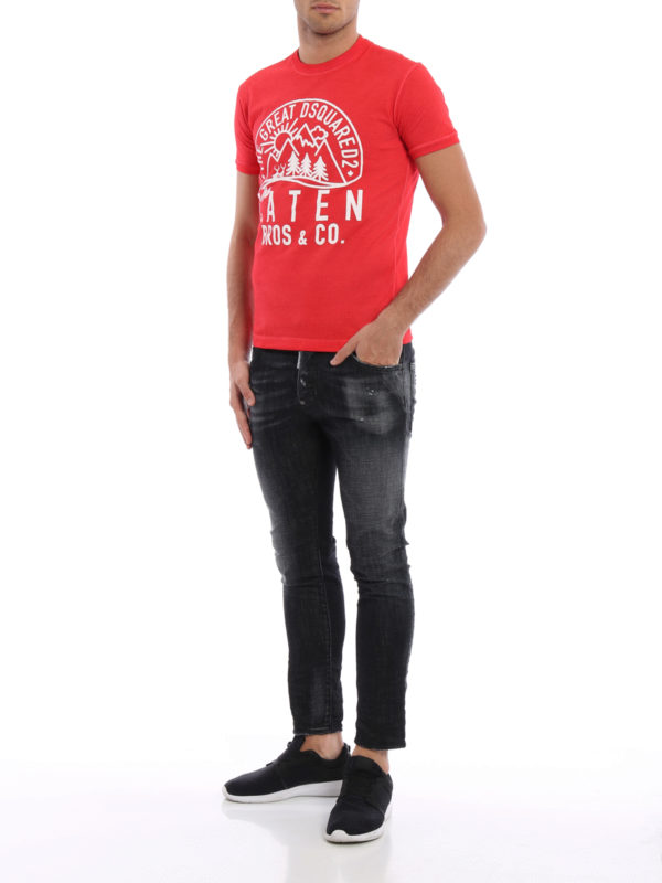 Straight Leg Jeans - Schwarz shop online: Dsquared2