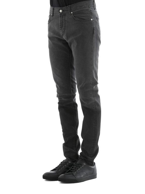 Straight Leg Jeans - Einfarbig shop online: ALEXANDER MCQUEEN