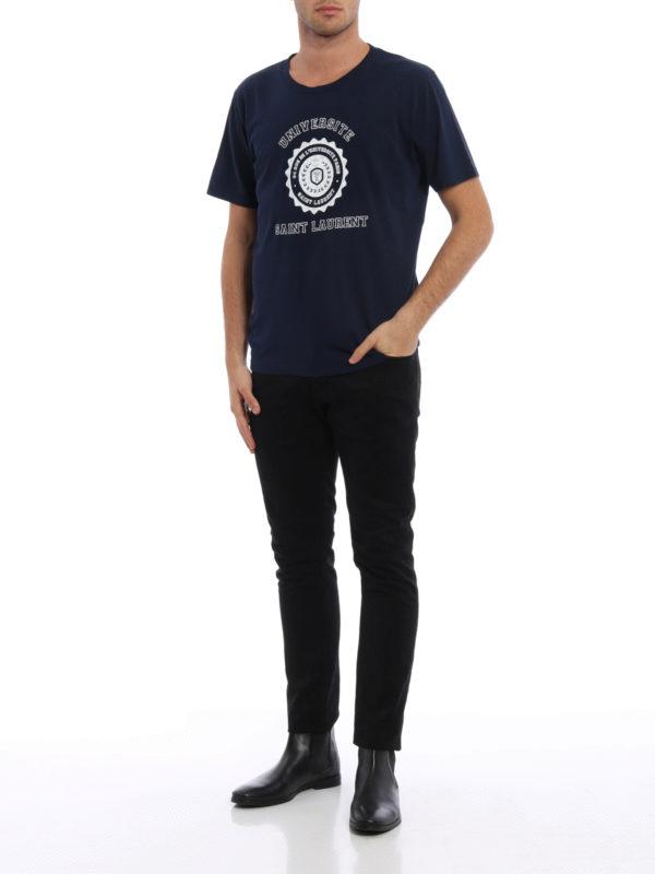 T-Shirt - Dunkelblau shop online: Saint Laurent