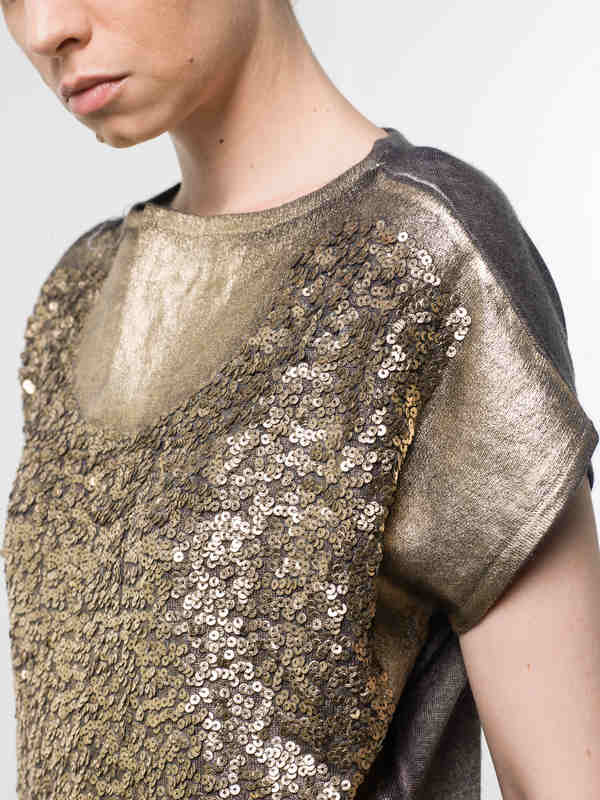 Sleeveless sequined top shop online: Avant Toi