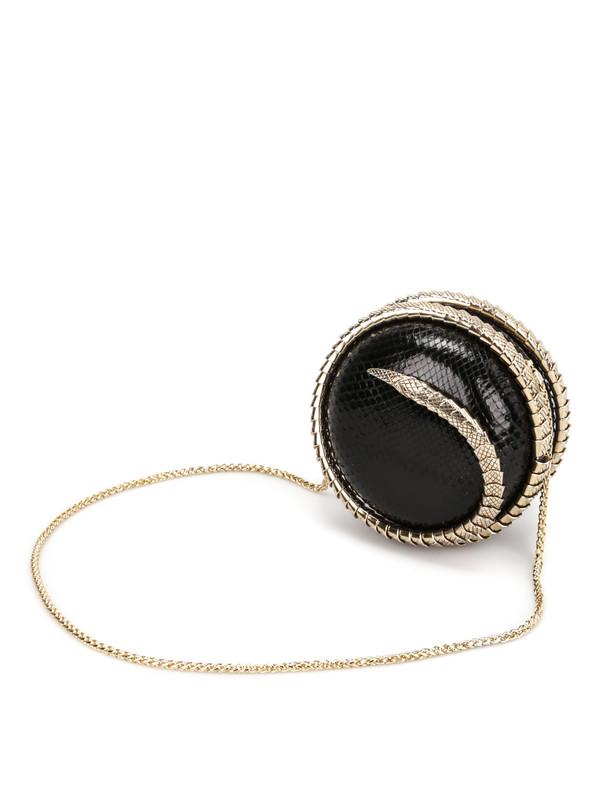 Snake Sphere clutch shop online: Roberto Cavalli