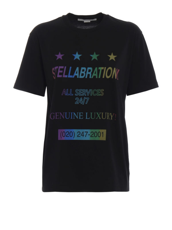 STELLA McCARTNEY: T-shirts - T-Shirt - Schwarz