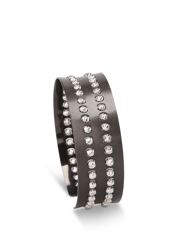 Sterling silver bead cuff shop online: Athomie
